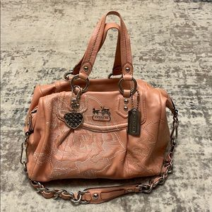 Coach Madison Floral Embroidered Satchel